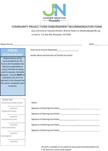 Grant Application Out of Cycle Form 2017