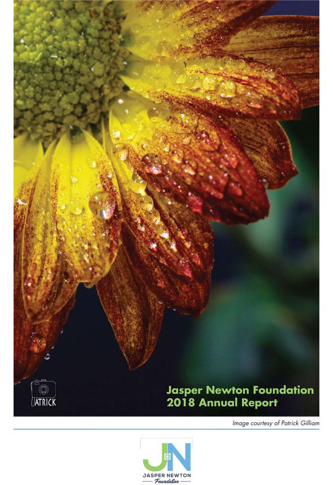 Jasper Newton Foundation 2018 Annual Report Page 1